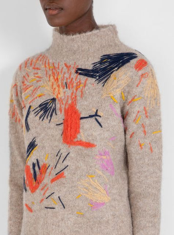 modern embroidered jumper aw18