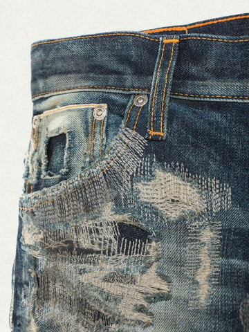 machine stitch repair jeans inspiration