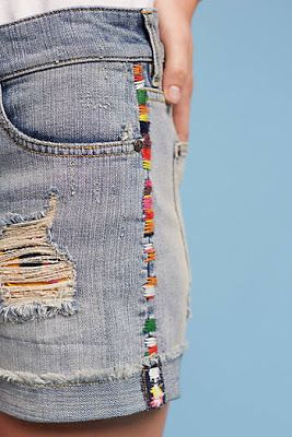 Edge stitch embroidery on jeans inspiration