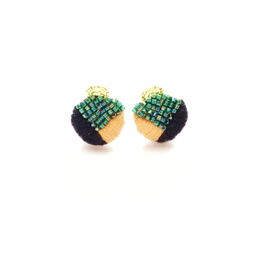 Embroidered Geometric Earrings