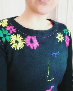 How to embroider and up-cycle your jumper Workshoo