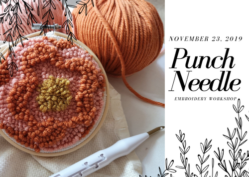 punch needle embroidery workshop berlin