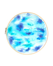 Sea from Above Embroidered Hoop Art