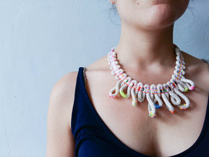 hand woven embellished necklace