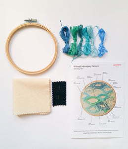 Modern Geometric Beginners Embroidery Sampler Kit detail