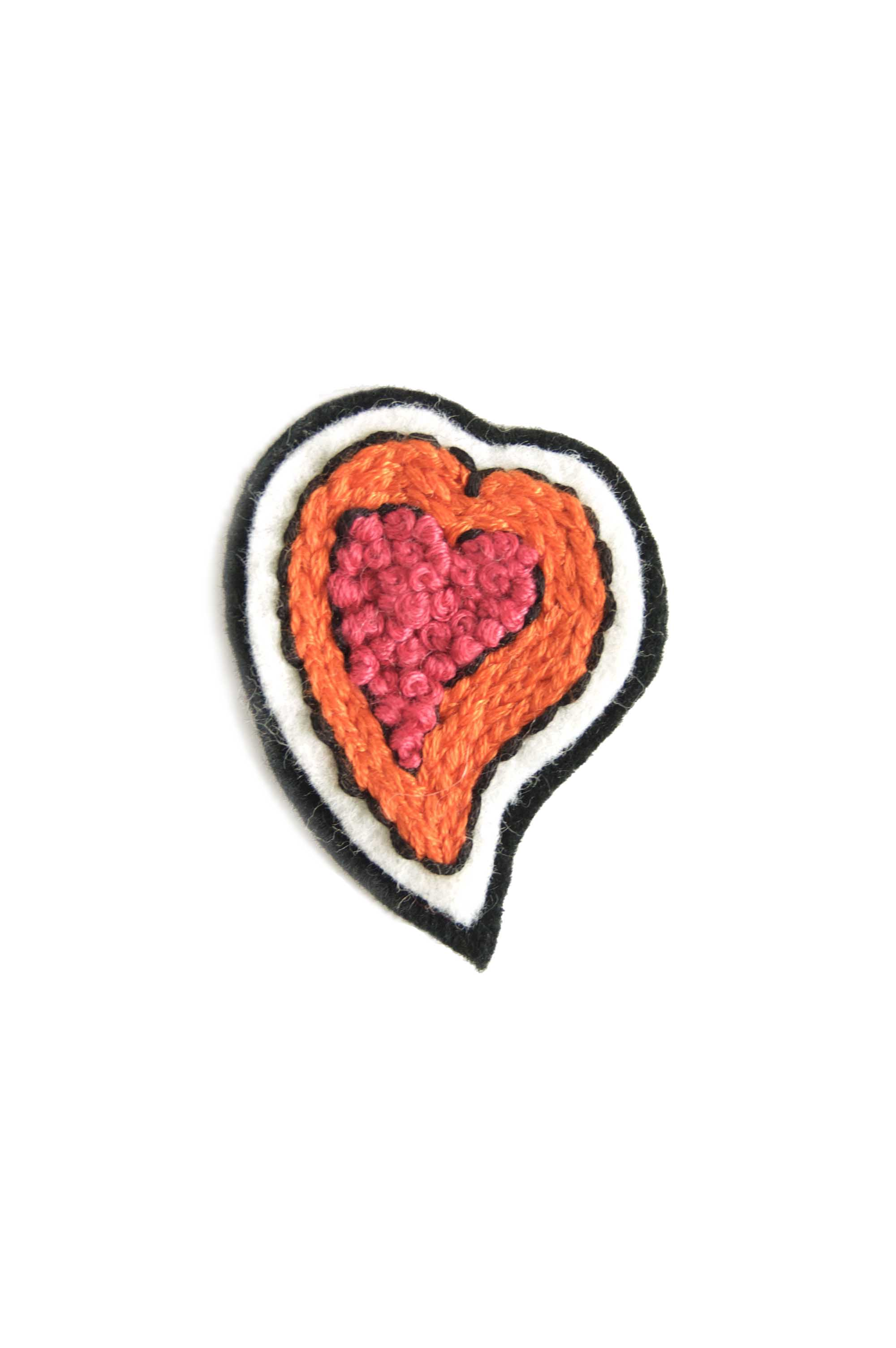 Embroidered Heart Patch - Free Pattern pdf