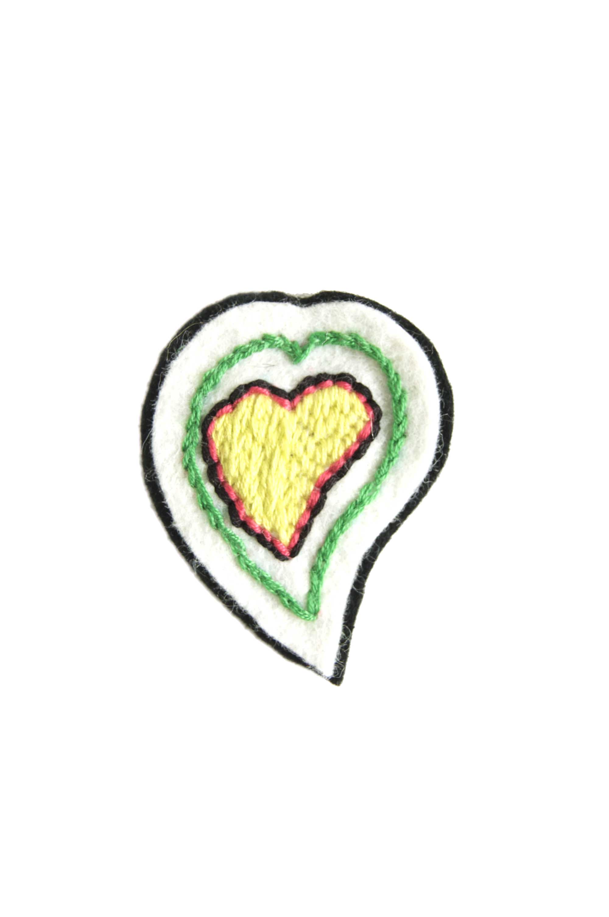 Hand Embroidered Heart patch
