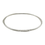 Solid Oval Sterling 925 Silver Bangle in a Gift Box