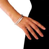 Split Band 925 Sterling Silver Polished Bangle in a Gift Box