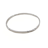 Solid 925 Sterling Silver Twisted Bangle in a Gift Box