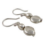 Long 925 Sterling Silver Pebble Drop Earrings