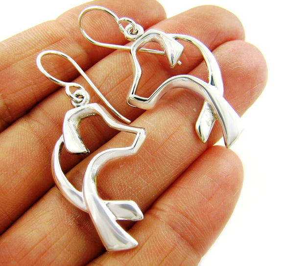 Sterling 925 Silver Labrador Retriever Dog Earrings