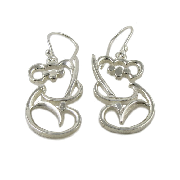 Koala Bear Design 925 Sterling Silver Earrings