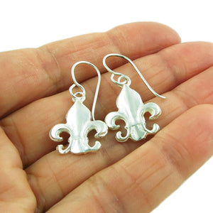 French Lily 925 Silver Earrings in a Gift Box