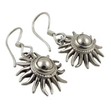Sun Burst 925 Sterling Silver Earrings Gift Boxed