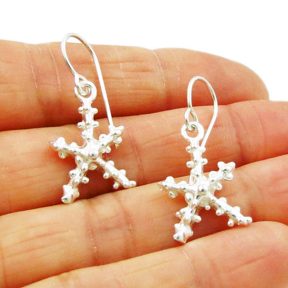 Starfish 925 Sterling Silver Drop Earrings Gift Boxed