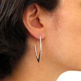 Solid 925 Sterling Hammered Silver Drop Earrings Gift Boxed