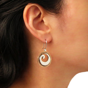 Guillermo Arregui 925 Silver and Copper Circle Drop Earrings