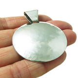 Hallmarked Solid 925 Sterling Silver Hammered Circle Disc Pendant