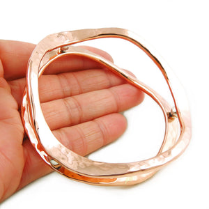 Large Copper and 925 Silver Bead Infinity Bangle in a Gift Box