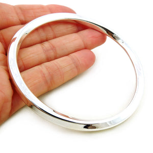 Hallmarked Sterling 925 Silver Twisted Square Edge Bangle