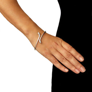 Open Band 925 Sterling Silver Polished Bangle