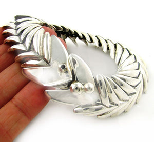 Old Taxco 925 Large Silver Fish Design Bracelet