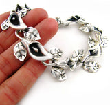Sterling 925 Mexican Silver Calla Lily Bracelet