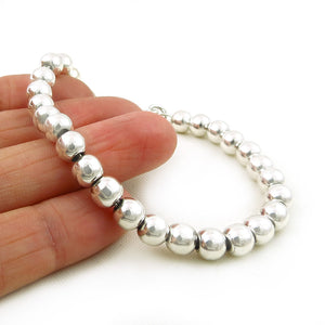 HM Hallmarked Sterling 925 Silver Ball Bead Links Bracelet