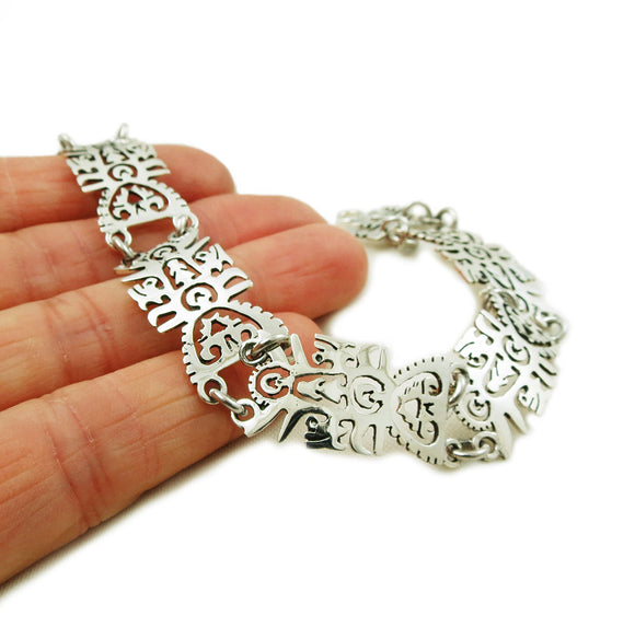 Tree of Life Taxco 925 Sterling Silver Bracelet
