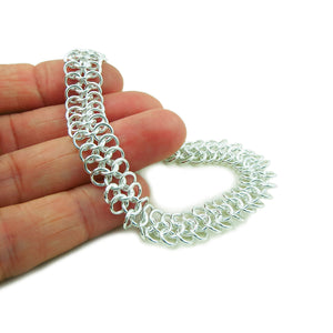 925 Sterling Silver Flat Cable Chain Bracelet Gift Boxed