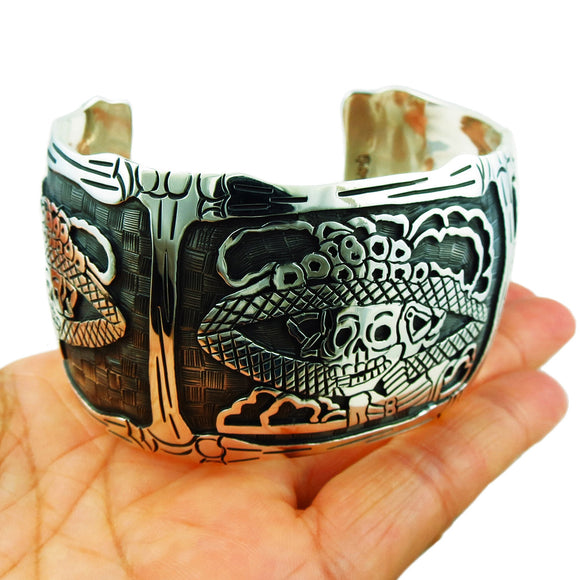 Maria Belen Day of the Dead La Catrina Designer Bracelet Cuff