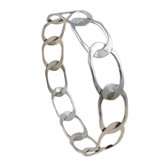 Curb Link Chain Design 925 Sterling Silver Bangle