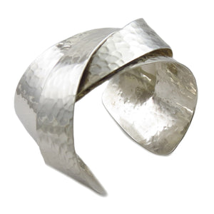 Heavy Solid 925 Sterling Silver Bracelet Cuff in a Gift Box