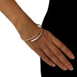 Open Band Hallmarked 925 Sterling Silver Polished Bangle
