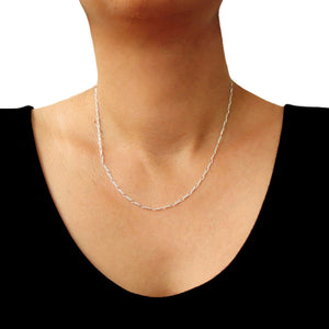 Sterling 925 Silver Figaro Chain Necklace