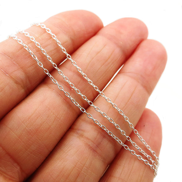 925 Sterling Silver Rolo Link Chain