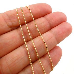 Solid Gold 10K Ball Bead Chain Necklace