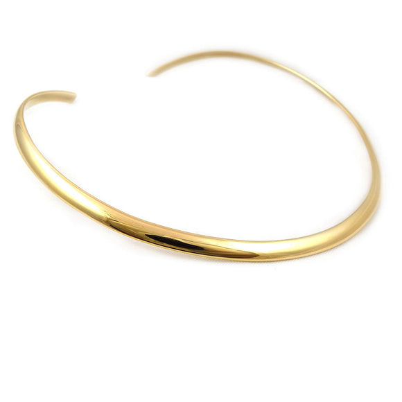 Solid Polished Brass Choker Torc