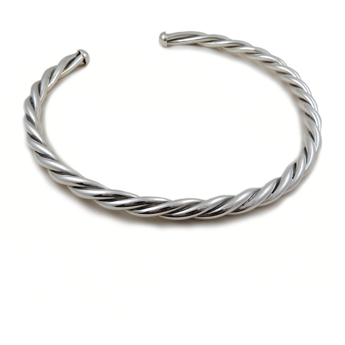 0a9604707f73e Large 925 Sterling Taxco Silver Twisted Choker Torc – The Mexican ...