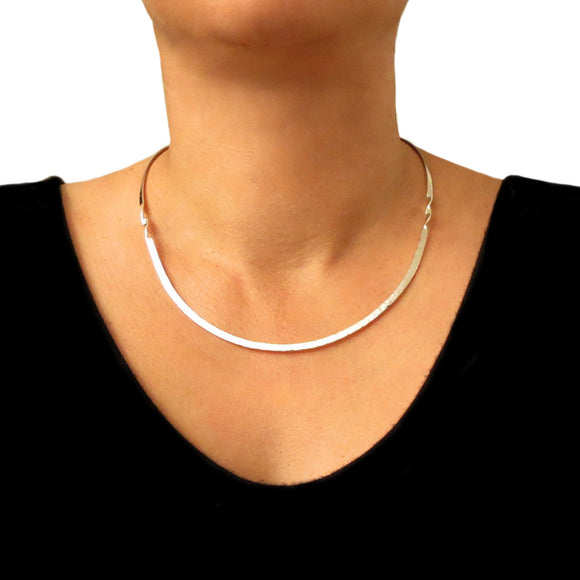 Choker 925 Sterling Silver Twisted Torque