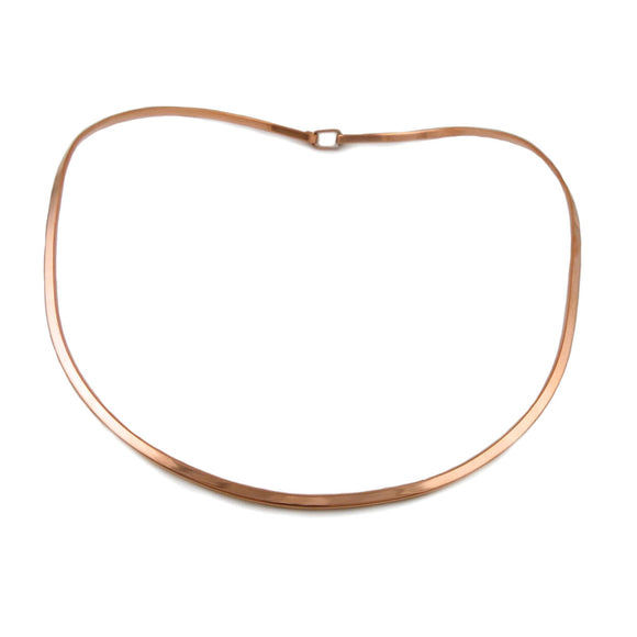 Solid Polished Copper Choker Torc Gift Boxed