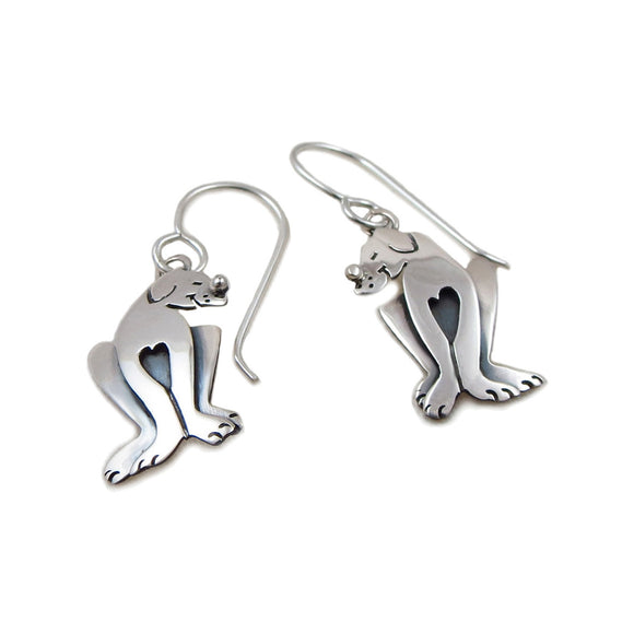Great Dane Large Dog 925 Sterling Silver Earrings Gift Boxed
