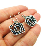 Taxco 925 Sterling Silver Swirl Drop Earrings