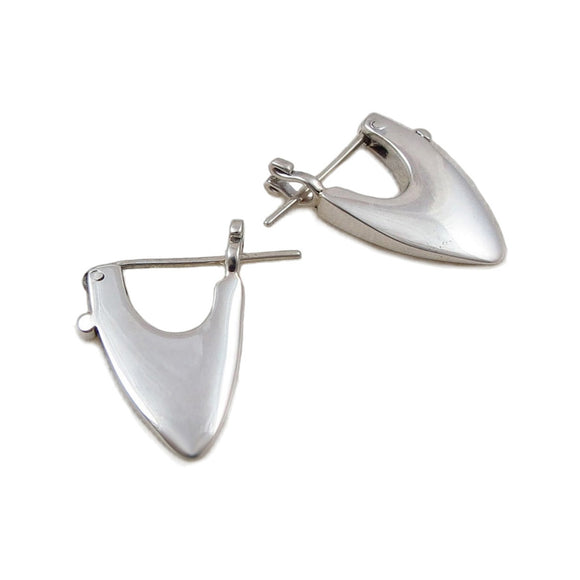 Triangle 925 Sterling Silver Designer Drop Earrings
