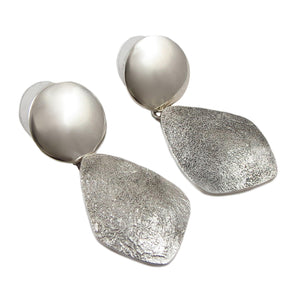 925 Sterling Taxco Silver Designer Drop Earrings Gift Boxed