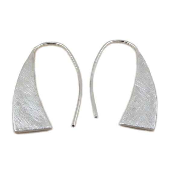 Textured Threader Drop 925 Sterling Silver Earrings