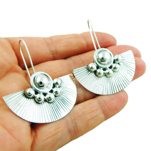 Large 925 Sterling Silver Drop Earrings in a Gift Box