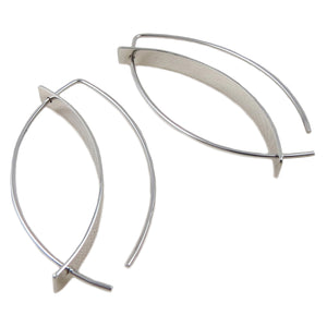 Long 925 Sterling Silver Threader Stick Drop Earrings in a Gift Box