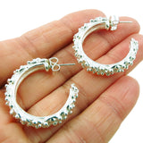 Heavy Hoops Sterling 925 Silver Circle Drop Earrings Gift Boxed